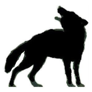 300x300 Psd Detail Howling Wolf Silhouette Official Psds