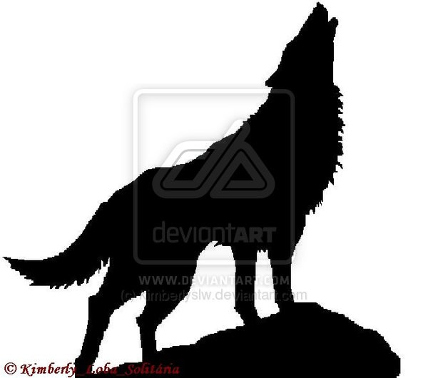 600x530 Wolf Howling Silhouette Tattoo Pictures Pin Free Hd