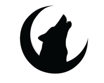 340x270 Wolf Howling Silhouette Vector