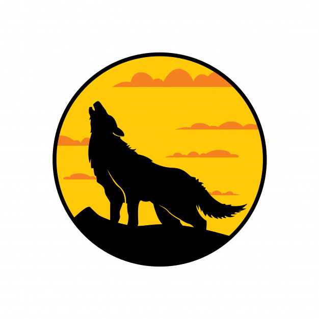 626x626 Wolf Howling Vector Premium Download