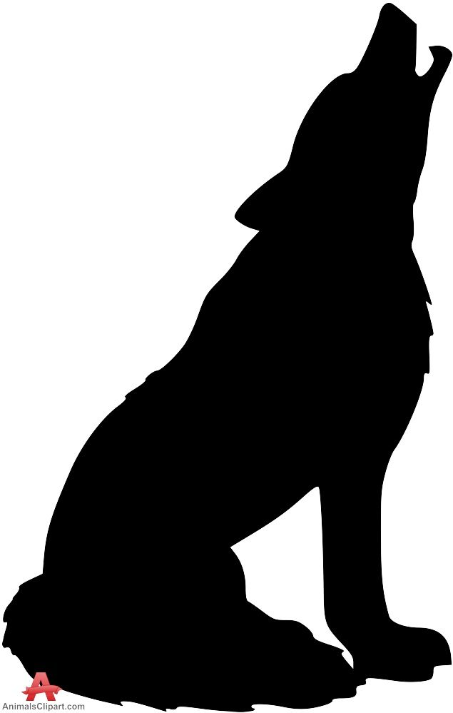 635x999 Delightful Decoration Clipart Wolf Howling Silhouette Bathroom Mat