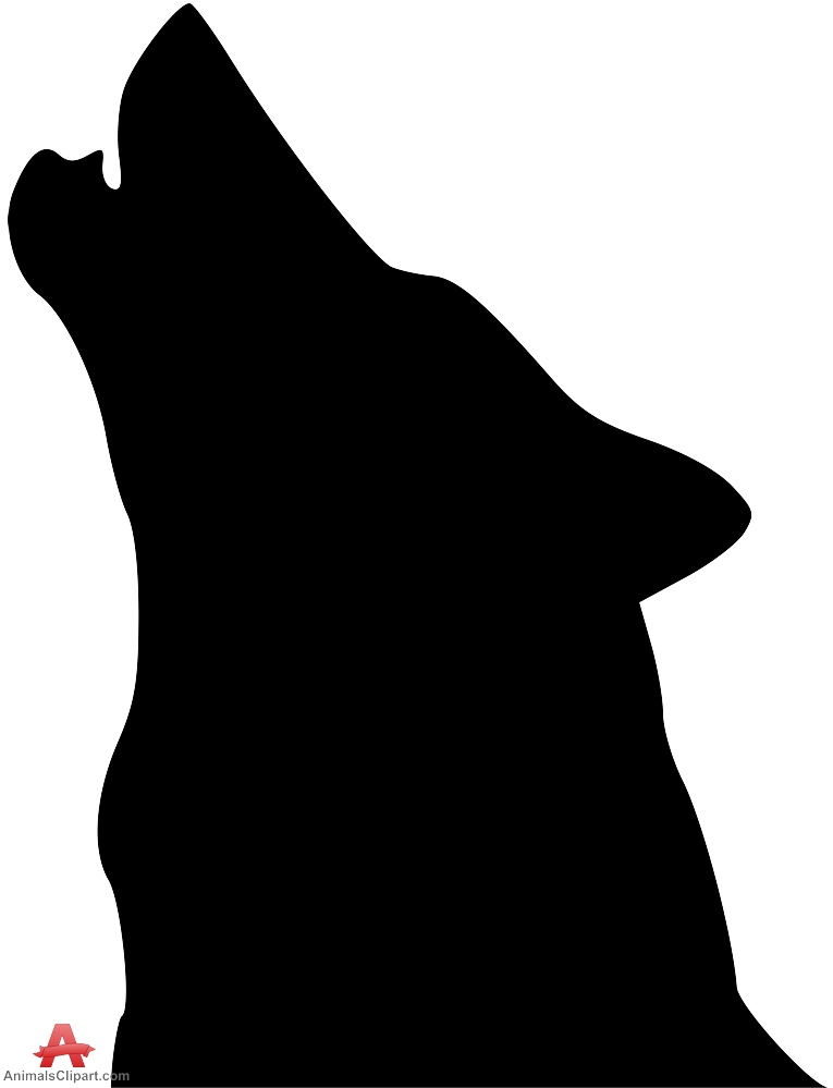 765x999 Wolf With Head Up Howling Silhouette Free Clipart Design Download
