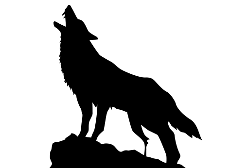 510x346 Wolf Howling On Cliff Tattoo Wolf Howling And Tattoo