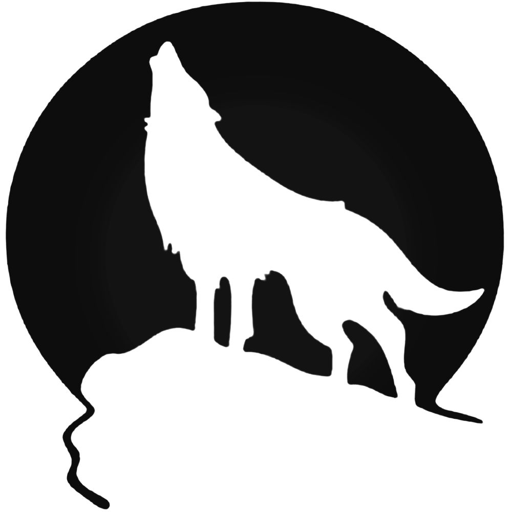1000x1000 Wolf Moon Decal Sticker