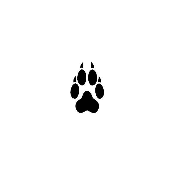 600x600 Wolf Paw Print Temporary Tattoo Tornado Tattoo By Tattoos By