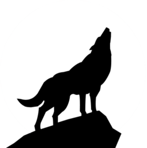 299x300 Howling Wolf Silhouette Psd Free Images