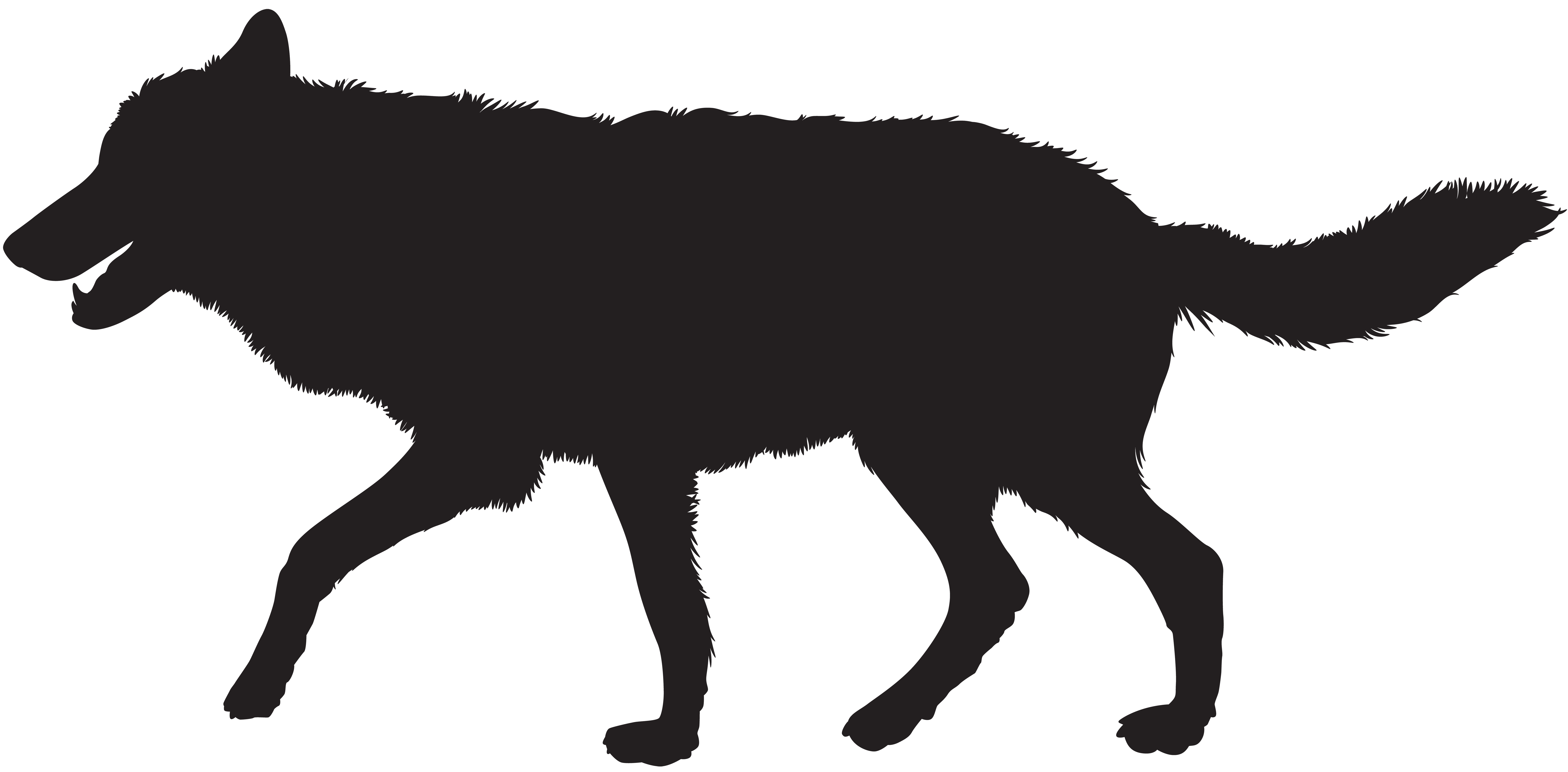 This is a photo of Exhilarating Wolf Silhouette Drawing