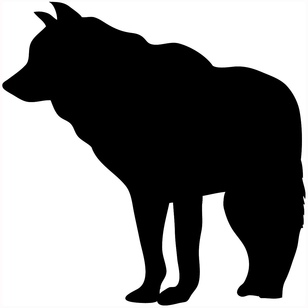 1219x1219 Wolf Silhouette