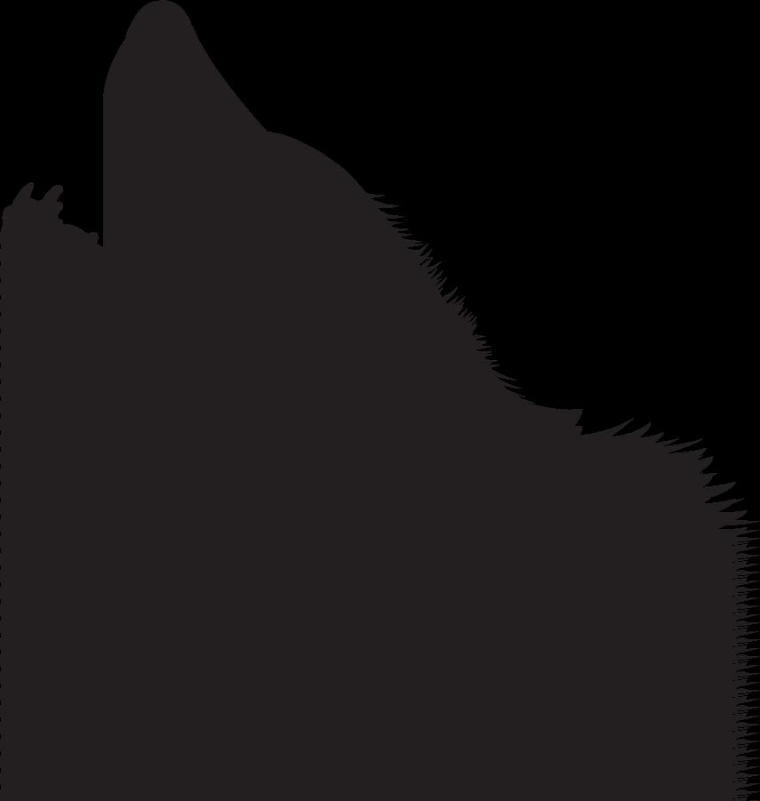 855x901 Wolf Silhouette Clip Art