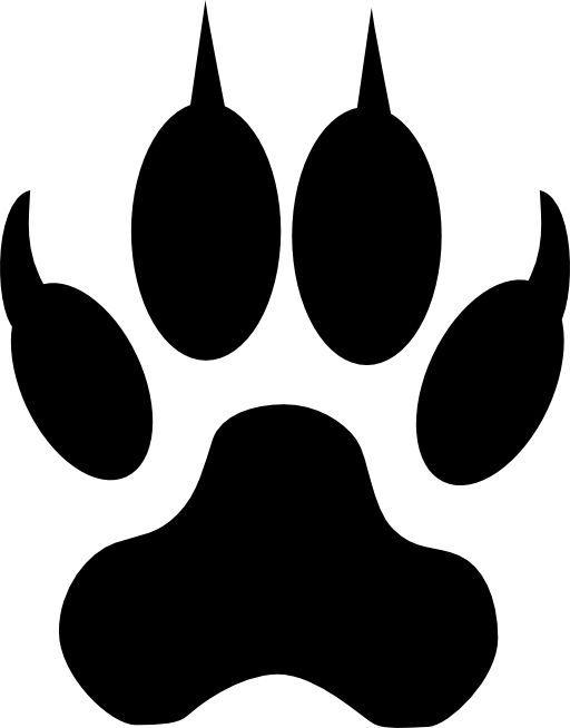 512x654 Wolf Silhouette Clip Art Animals