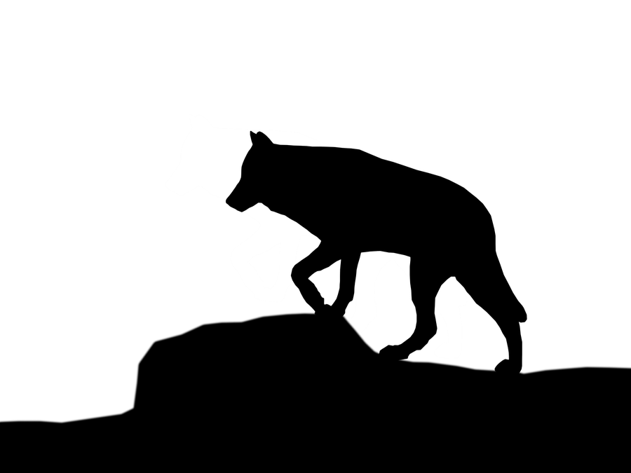 900x675 Free Running Wolf Clipart Image
