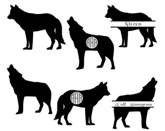 340x270 Howling Wolf Svg Etsy