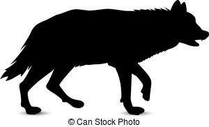 300x182 Silhouette Of Running Wolf Vector Clipart Royalty Free. 26