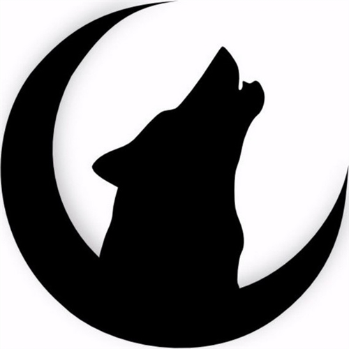 500x500 Wolf Howling Moon Silhouette