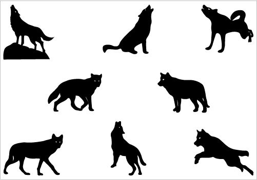 501x352 Wolf Silhouette
