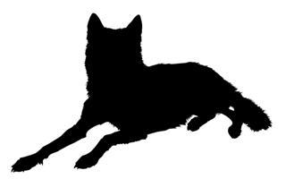 320x219 Wolf Silhouette 3 Decal Sticker