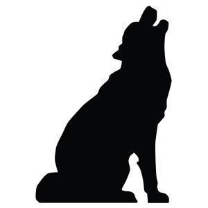 300x300 Howling Wolf Silhouette Lifesize Cardboard Cutout Standee Standup
