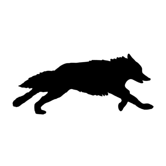 Wolf Silhouette Running