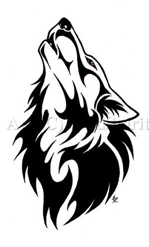 300x496 Ofc Cool Older A Wolf Tattoo Silhouette