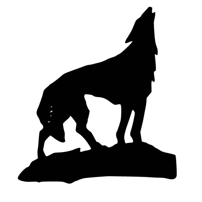 Wolf Silhouette Transparent