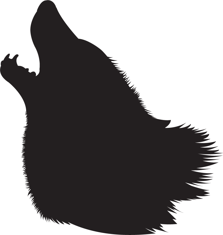 855x901 Howling Wolf Silhouette Free Image