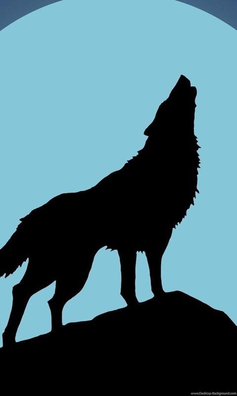 480x800 Howling Wolf Silhouette Wallpapers Vector Desktop