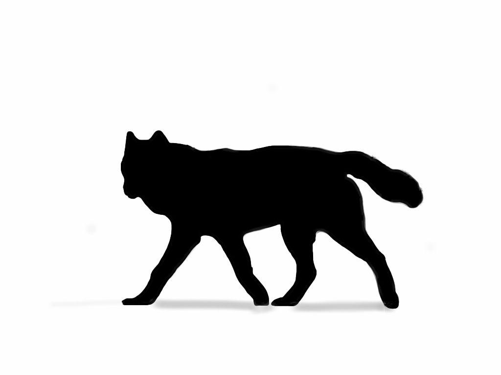 1024x768 Silhouette Tattoo Wolf
