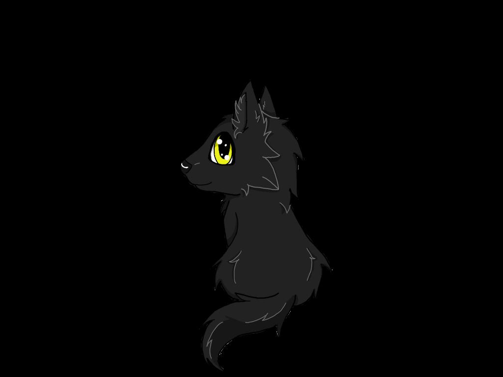 1024x768 Black Wolf Pup (Wolfy) By Wolfy Kokoro