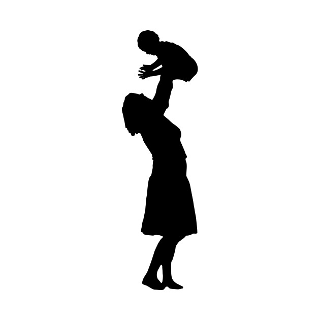 630x630 Limited Edition. Exclusive Mother Playing With Child Silhouette