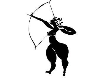 340x270 Female Archer Etsy