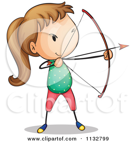 450x470 Archery Couple Silhouette Clipart