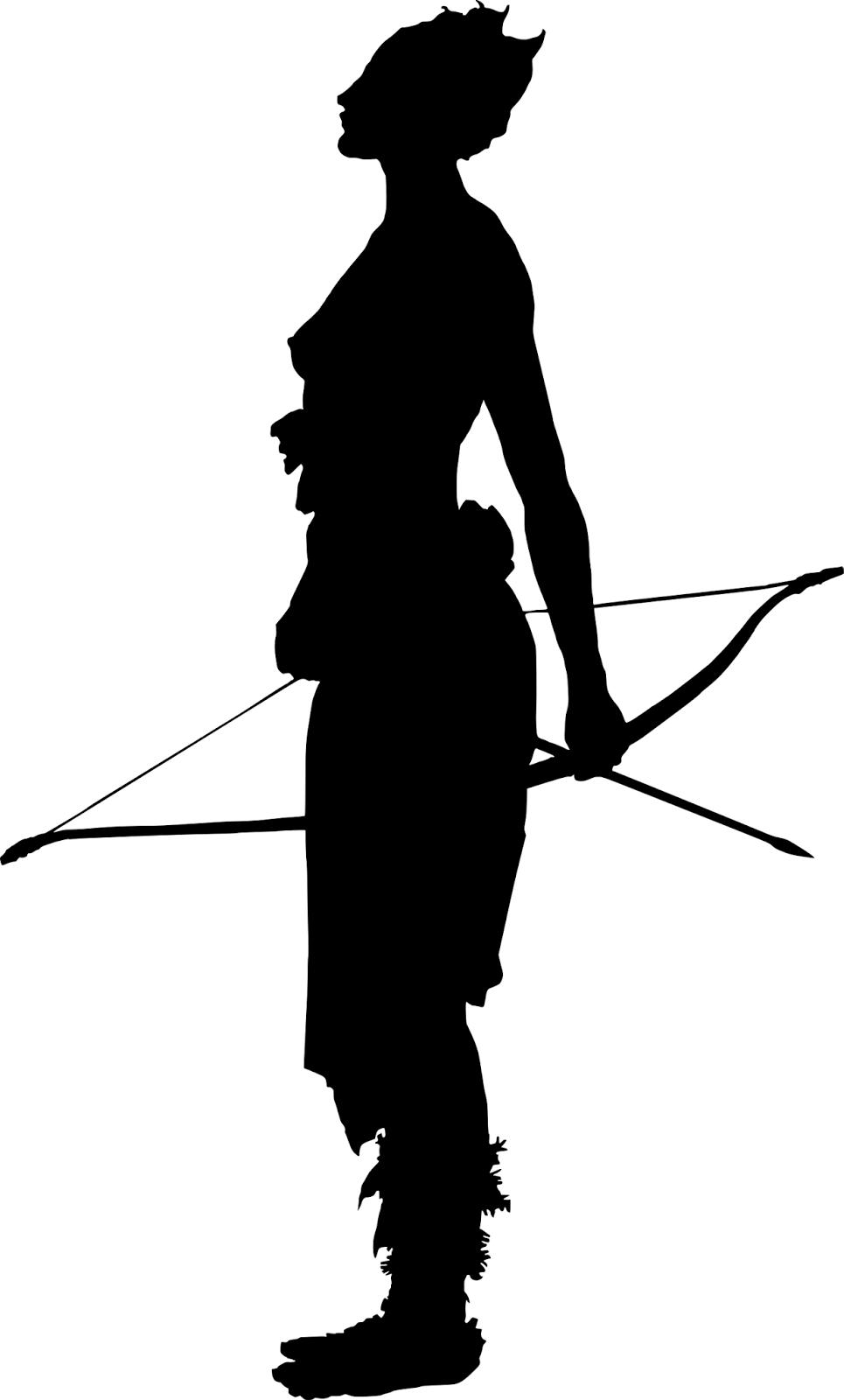 965x1600 Woman Archer Line Art Simple