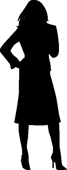 234x591 Woman Silhouette Clip Art