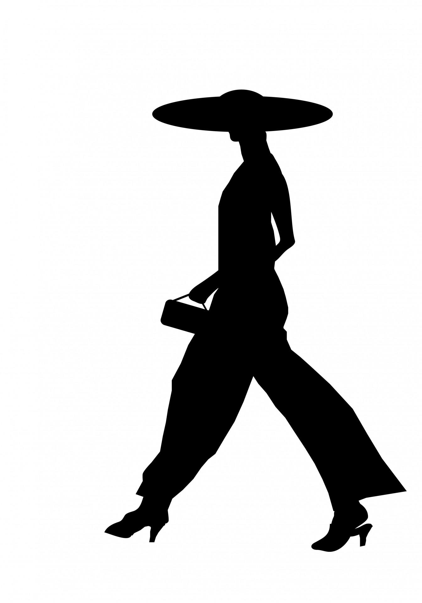 1344x1920 Woman Walking Silhouette Free Stock Photo