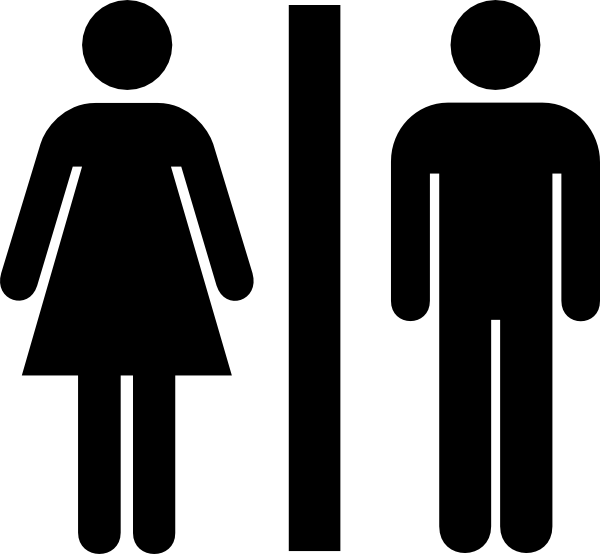 600x554 Male And Female Bathroom Clip Art