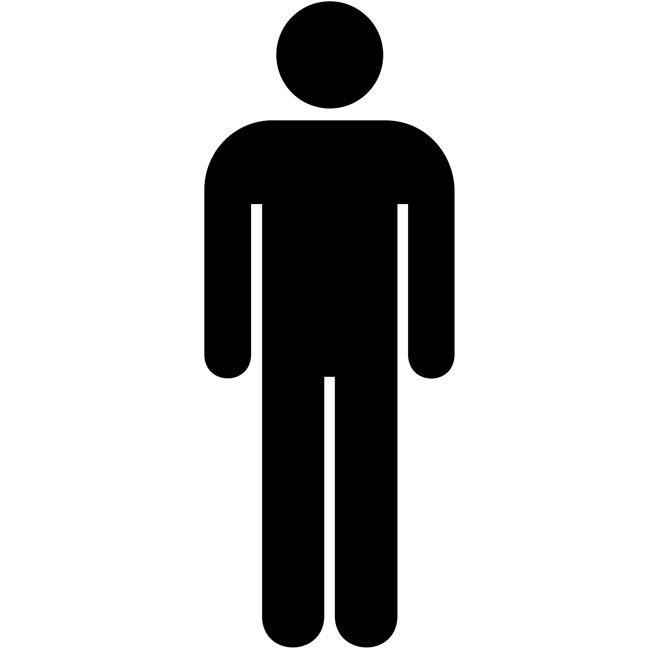 660x660 Male Bathroom Sign Clipart 29