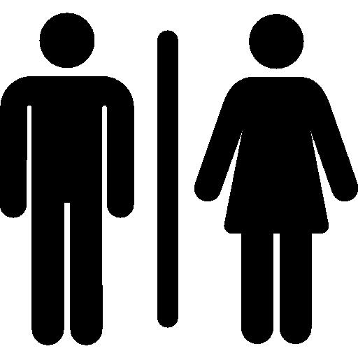 512x512 People Bathroom Flat Black Icon