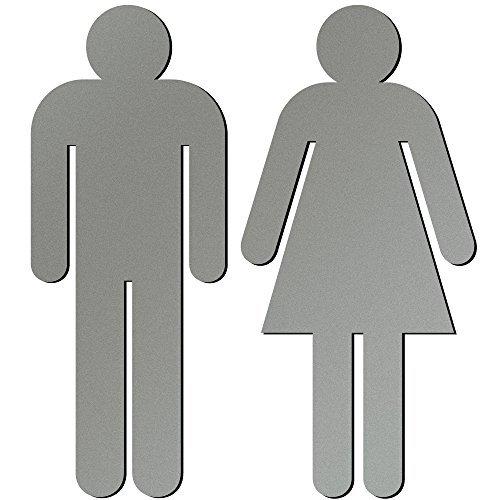 500x500 Women's Bathroom Signs