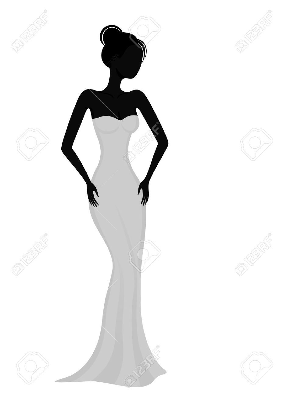 928x1300 Female Figure, Vector, Silhouette
