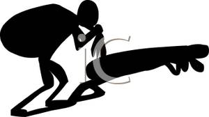 300x168 Black Silhouette Of A Man Bent Over With A Heavy Burden On His