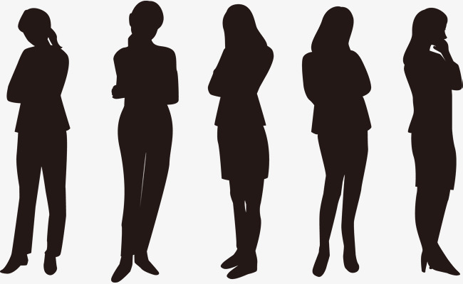 650x400 Troubled Woman Silhouette Vector, Professional Figure, Occupation