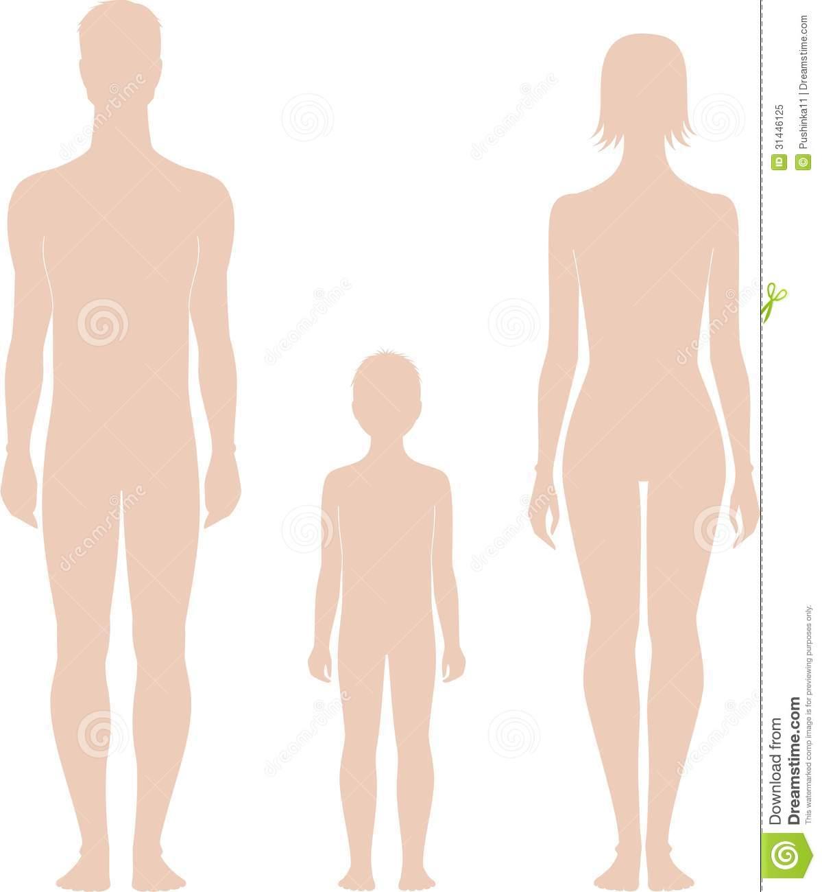 1199x1300 Human Figures Vector Illustration Man Woman Child Silhouettes