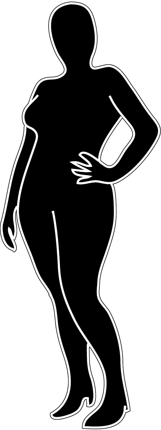 531x1417 Free Female Silhouette Pictures, Hanslodge Clip Art Collection