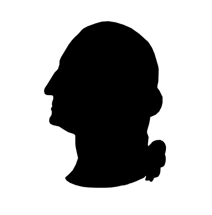 736x744 George Washington Silhouette Clip Art
