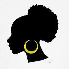 236x236 African Woman Silhouette Clip Art African American Woman