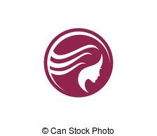224x194 Beauty Women Face Silhouette Character Logo Template. Woman