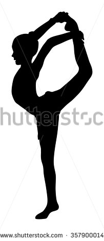 203x470 Vector Download Athlete Woman In Gym Exercise. Ballet Girl