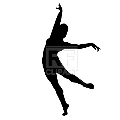 400x400 Dancing Woman Silhouette Royalty Free Vector Clip Art Image