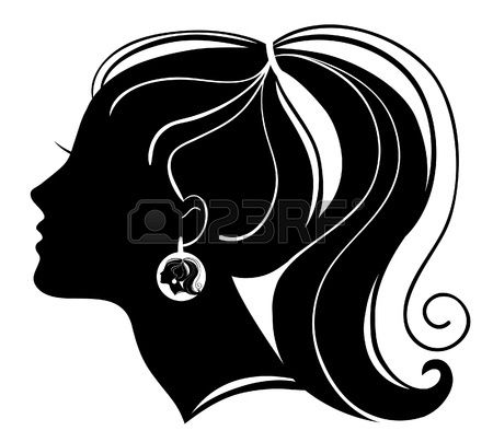 450x404 116 Best Hair Silhouette Images On Crafts, Beauty Room