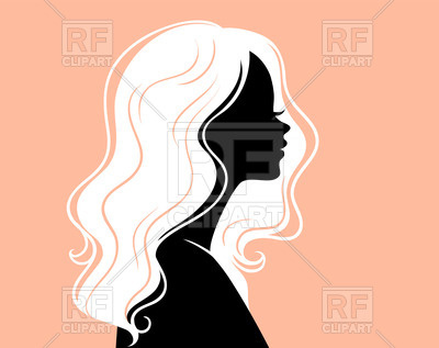 400x317 Silhouette Of Woman In Profile With Beautiful White Hair Royalty